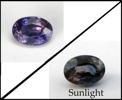 Sapphire (bicolor and color change)