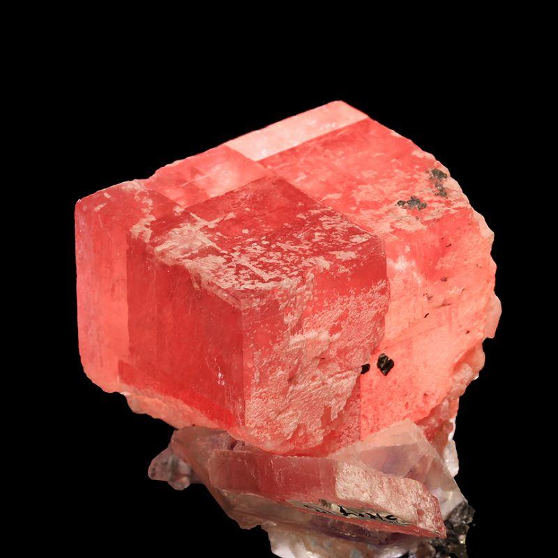 Rhodochrosite with Fluorite and Quartz