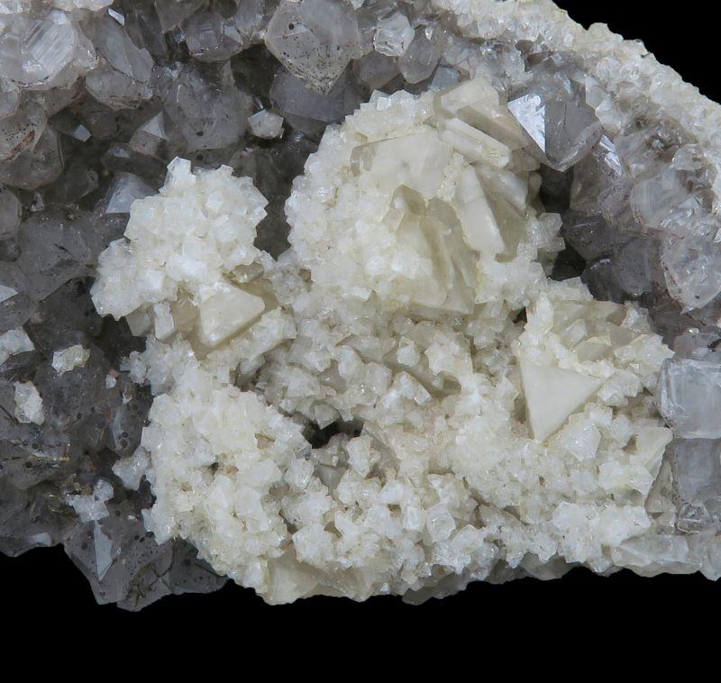Chabazite, Smoky Quartz & Goethite (Robertson Coll.)