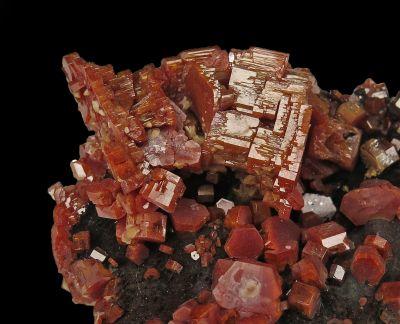 Vanadinite on Goethite (superb - ex Larry Conklin)