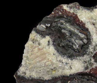 Mendipite, Calcite, Mg-oxides, etc (Type Locality area)