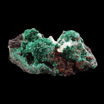 Cerussite on Malachite (RARE for the locale) (ex Jason New Collection)