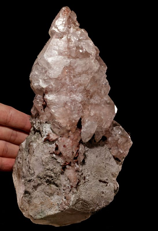 large Calcite with Copper inclusions