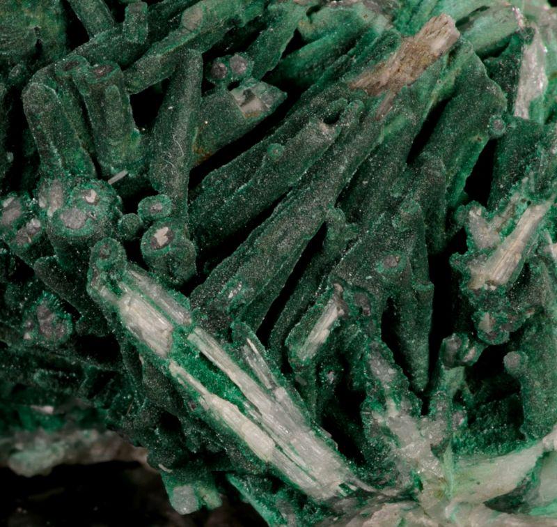 Malachite on Cerussite (RARE old Germany)