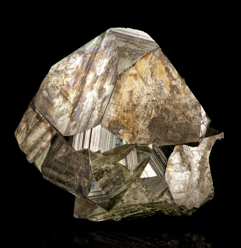 Pyrite octahedrons (classic locale) Chet Lemanski Coll.