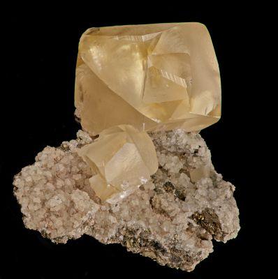 Calcite (twinned) - classic 1990s find