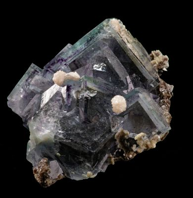 Fluorite with phantoms, and Dolomite