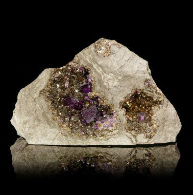Fluorite on Fluorite (iridescent) in pockets