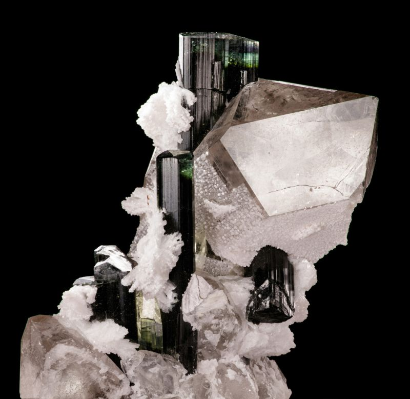 Tourmaline, Quartz and Cleavelandite