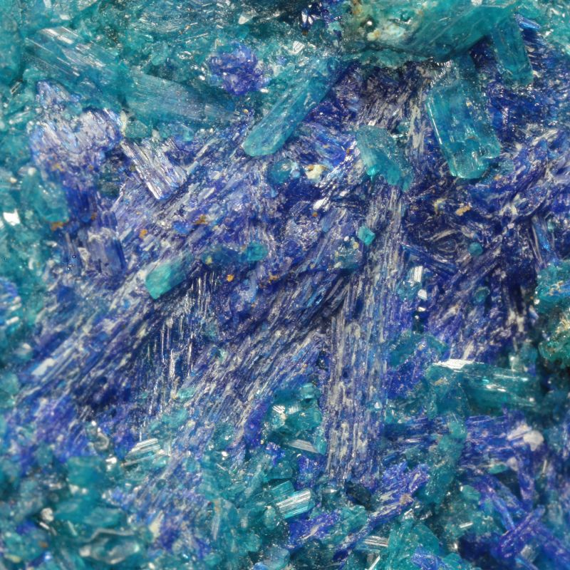 Linarite with Caledonite (classic material) (ex Bob Reynolds Collection)