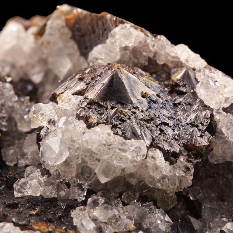 Quartz on Sphalerite