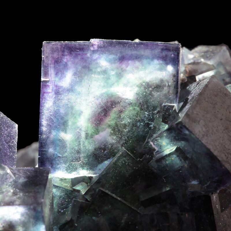 Fluorite (multi-color ''phantom'' crystals)