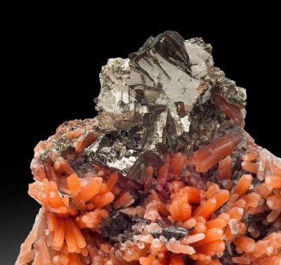 Pyrite on Red Quartz (rare combination piece!)