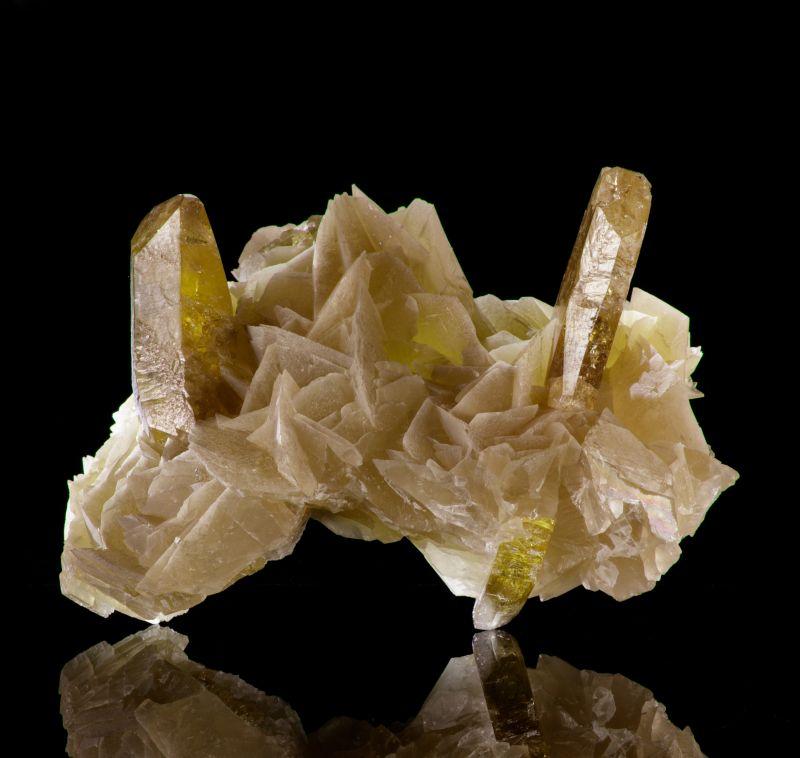 Baryte and Calcite (Bob Reynolds Coll.)