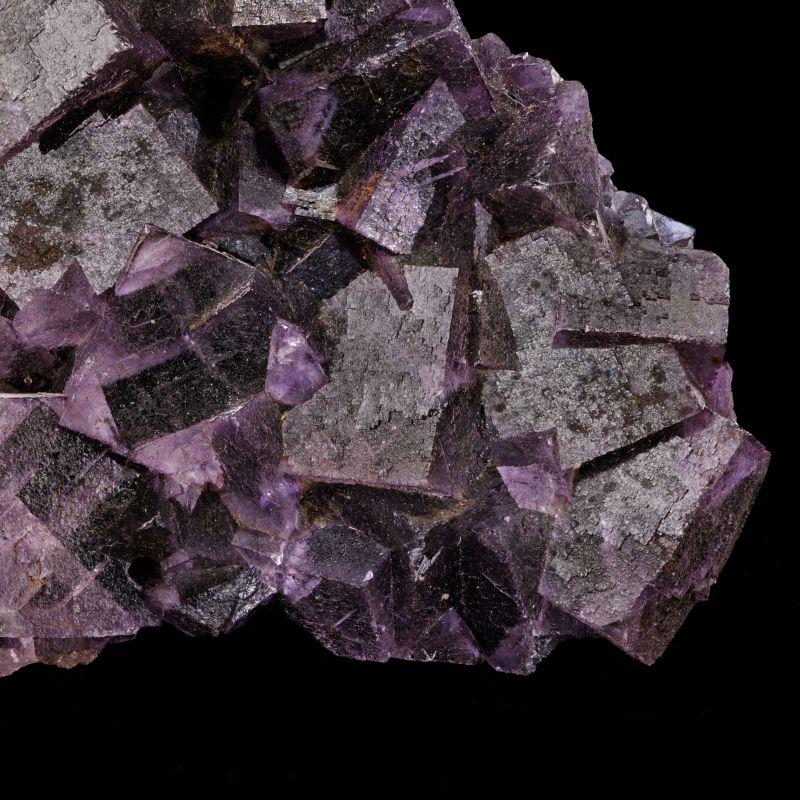 large bi-colored Fluorite w/ Bitumen (Chet Lemanski Coll.)