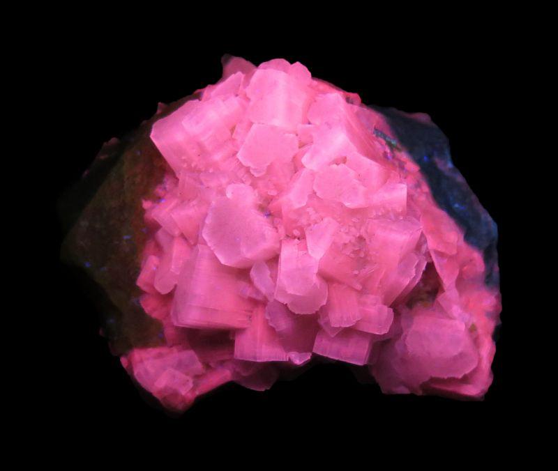 Aragonite (rare style & fluorescent!) & Sulfur ex Lemanski Coll.