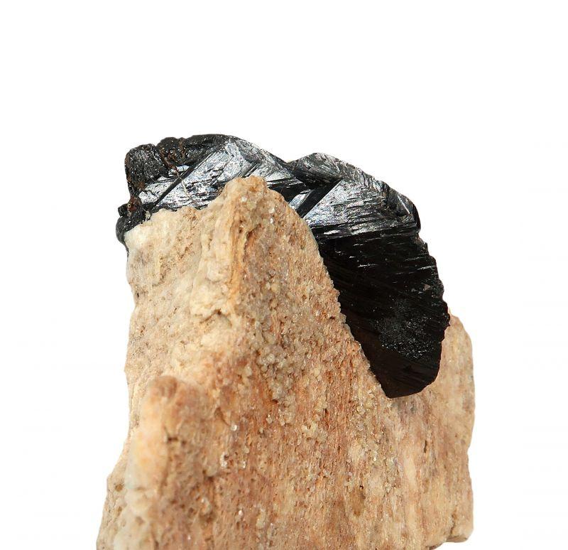 Cassiterite on Microcline feldspar (rare locale!)