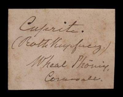 Cuprite (circa 1800s) 19th C. Zurich Coll.