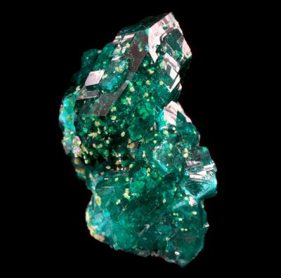 Dioptase with Conichalcite