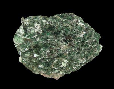 Muscovite var. Fuchsite (Cr-bearing) Richard Rossi Coll.