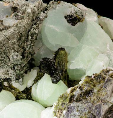 Large  Prehnite, Epidote & Pyrite (Chet Lemanski Coll.)