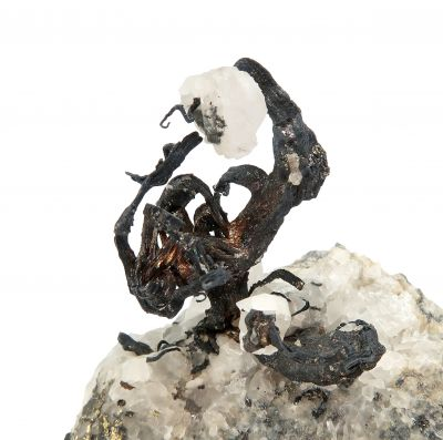Silver and Calcite , with Acanthite