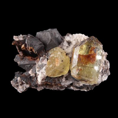 Apatite with Magnetite (rare combo for the locale) (ex Dave Bergman Collection)