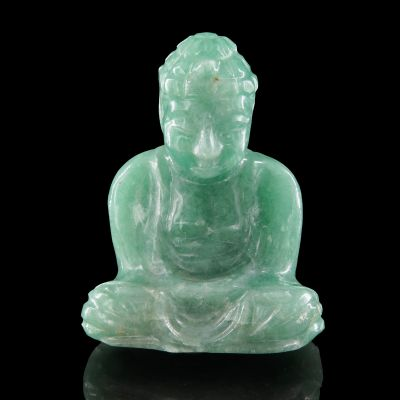 Aventurine (Quartz with Mica inclusions) carving, Buddha
