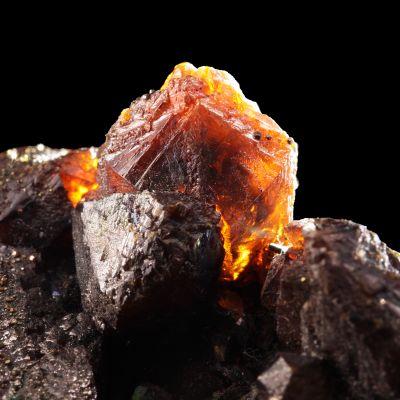 Sphalerite (fine ''Ruby Jack'' crystals)