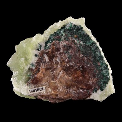 Calcite (rare color) with Atacamite(?) (ex Chet Lemanski Collection)