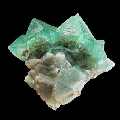 Fluorite (gemmy green octahedra) (ex Carl Hoffstredder Collection)