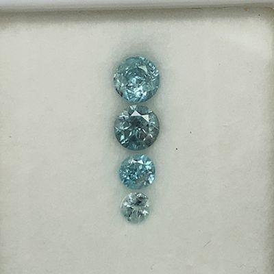 Zircon (multi-stone set) (4 stones)
