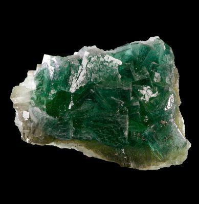 Fluorite on Fluorite (fluorescent) Lemanski Coll.