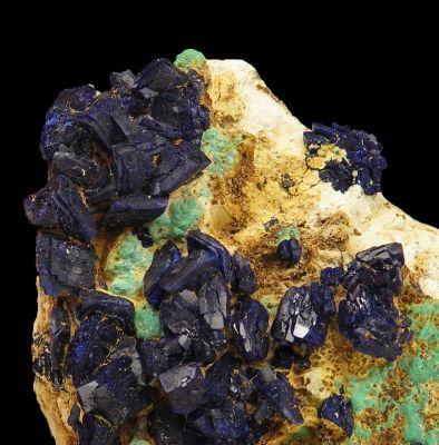 Azurite with Malachite (unusual)