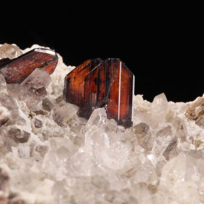Brookite (gemmy ''phantom'' crystals)