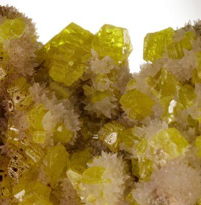 Sulfur & Aragonite w/ bitumen (Kidwell Coll.)