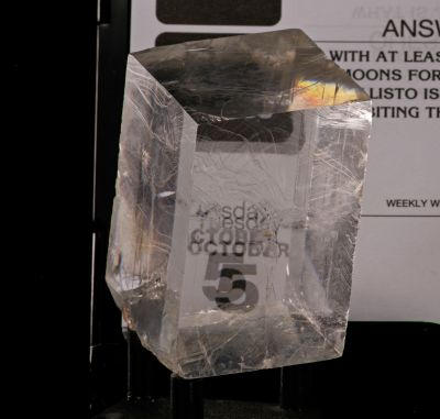 Iceland spar Calcite (optical grade - old Mexico) Kidwell Coll.