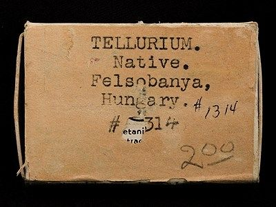 Native Tellurium (OLD rarity from TYPE LOCALITY)