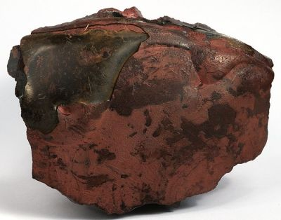 Quartz var. Tiger Eye ps. Cricidolite ps. Hematite (UNIQUE)